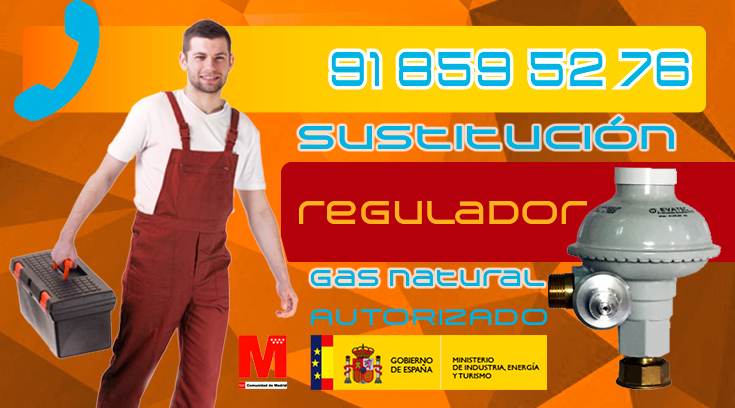 Sustitución regulador de gas natural en Collado Villalba