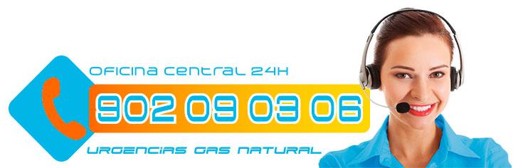 Oficina Central Teléfono urgencias de gas en Villalba