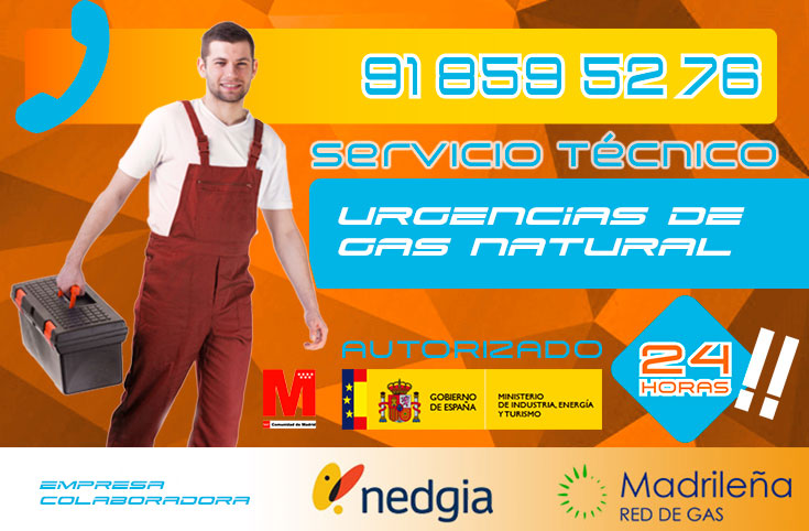 Urgencias de gas natural en Collado Villalba